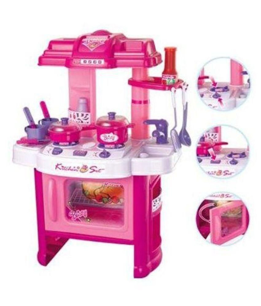 Mama Mia Multicolour Musical Kitchen Set For Girls