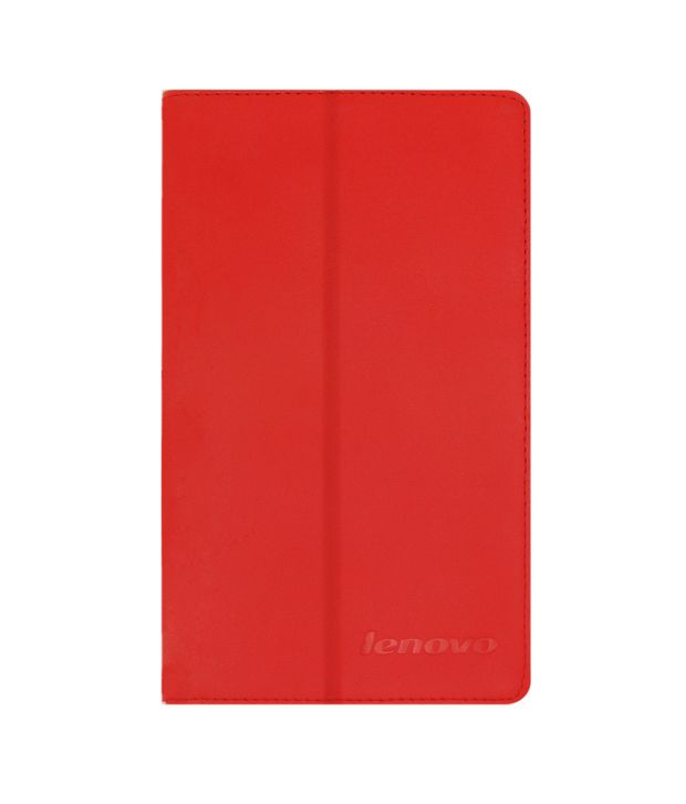 Acm Flip Case Cover For Lenovo Tab 2 A7-20 Cover Stand - Red
