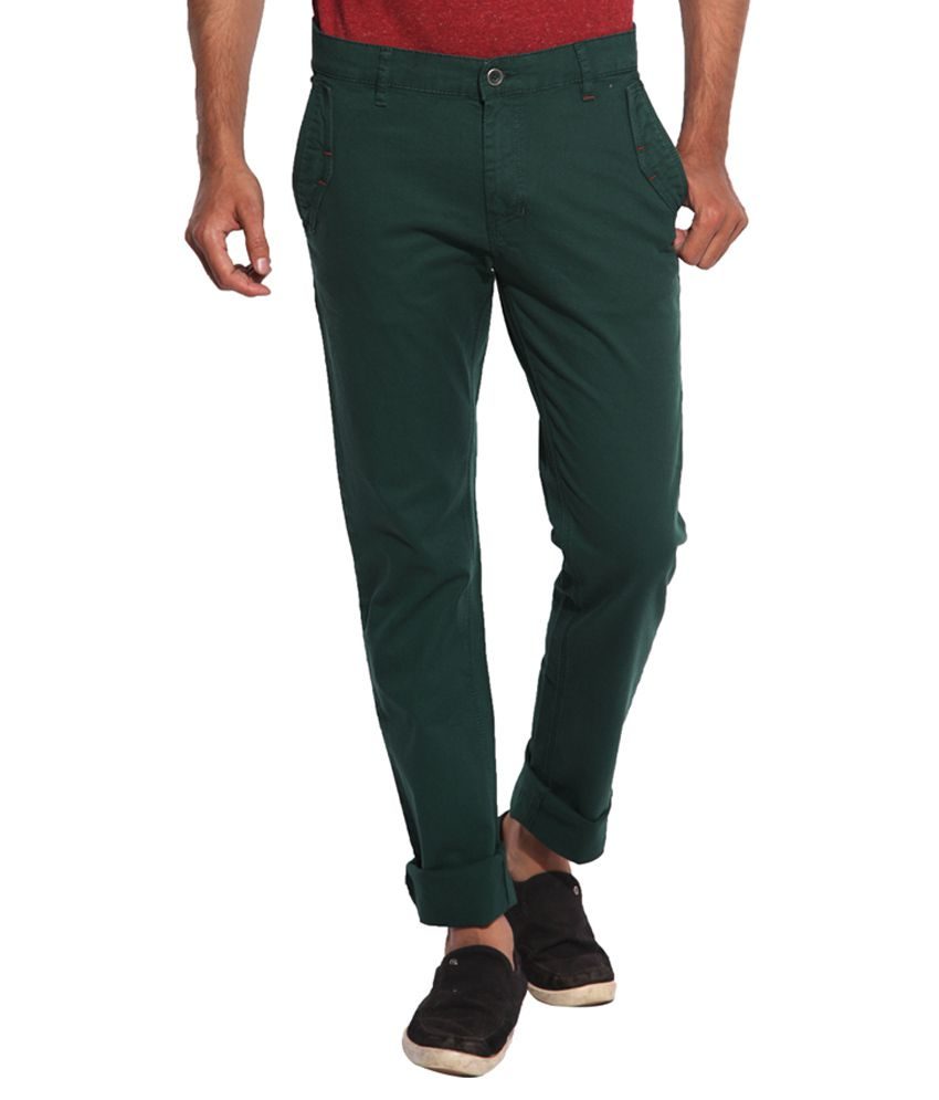 Inego Green Slim Fit Chinos