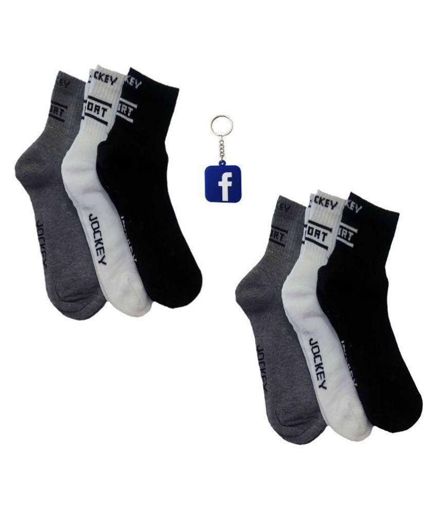 Jockey Multicolour Casual Ankle Length Socks for Men - Pack of 3