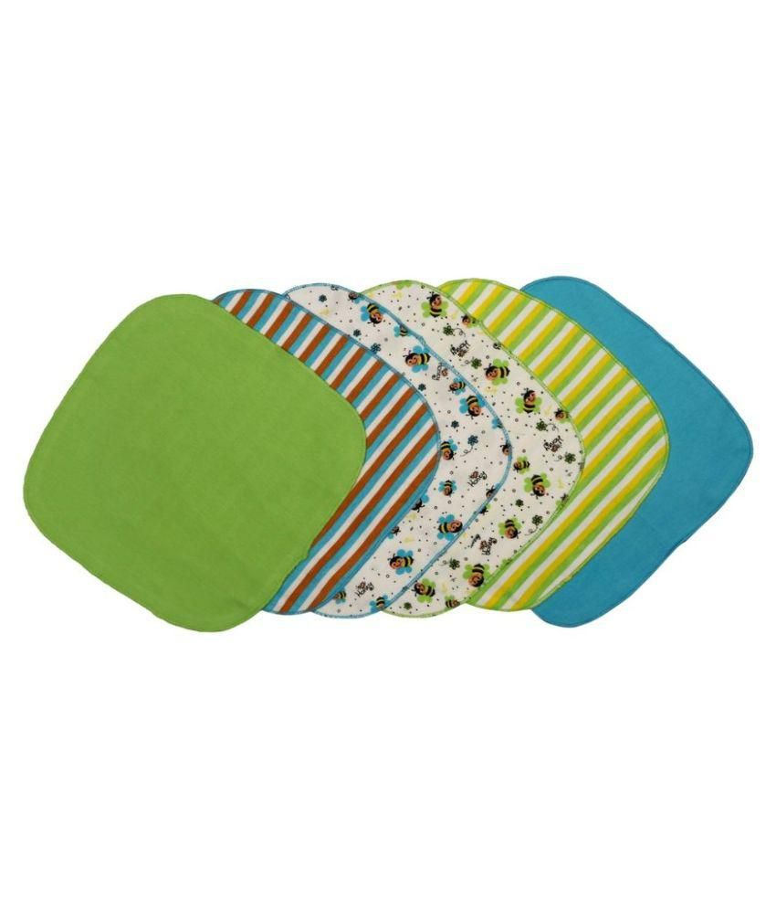 Morisons Baby Dreams Multicolour Baby Napkin with Interlock - Set of 6 Baby Blanket/Baby Swaddle/Baby Sleeping Bag