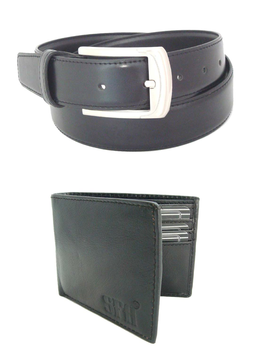 SFA Black Non Leather Belt with Wallet