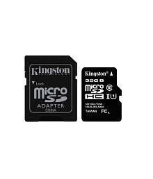 Kingston 32 GB Class 10 Micro SD Card 80Mbps Speed with Adapter
