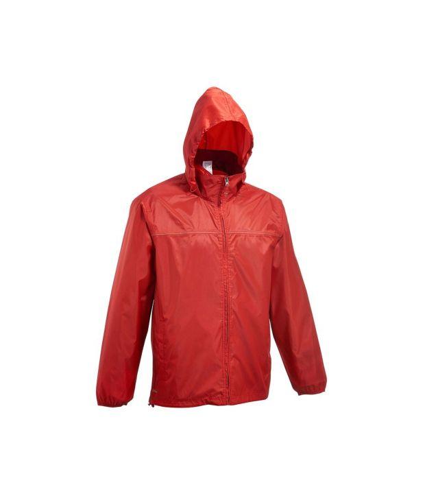 QUECHUA Rain-Cut Zip Men's Hiking Rain Jacket: Buy Online at Best ...