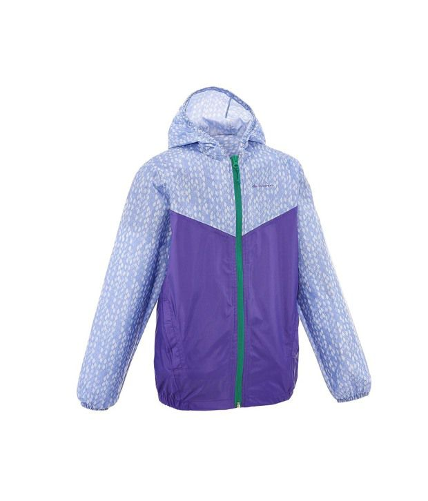QUECHUA Raincut Zip Kids Hiking Jacket