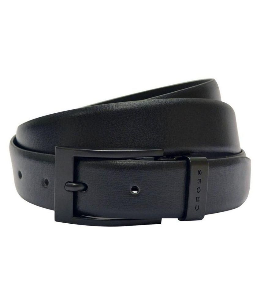 Cross Black Leather Belt for Men