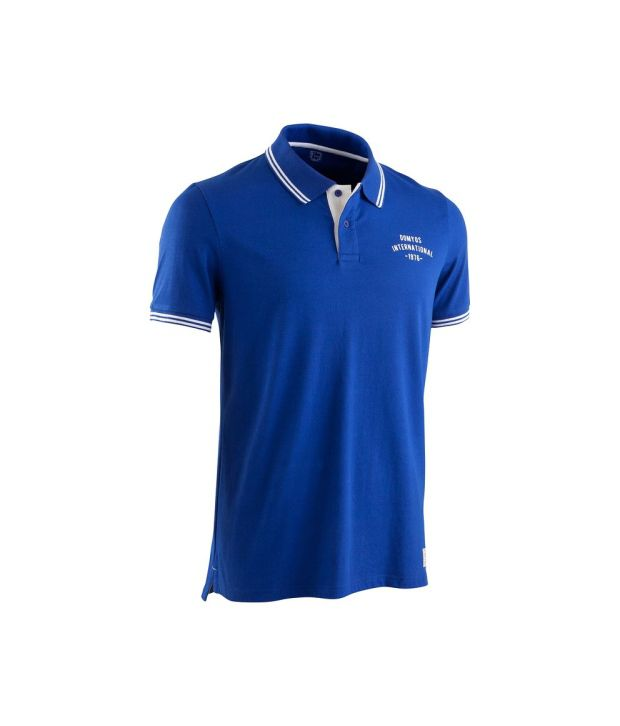 DOMYOS Dry Skin Cotton Men's Fitness Polo T-Shirt