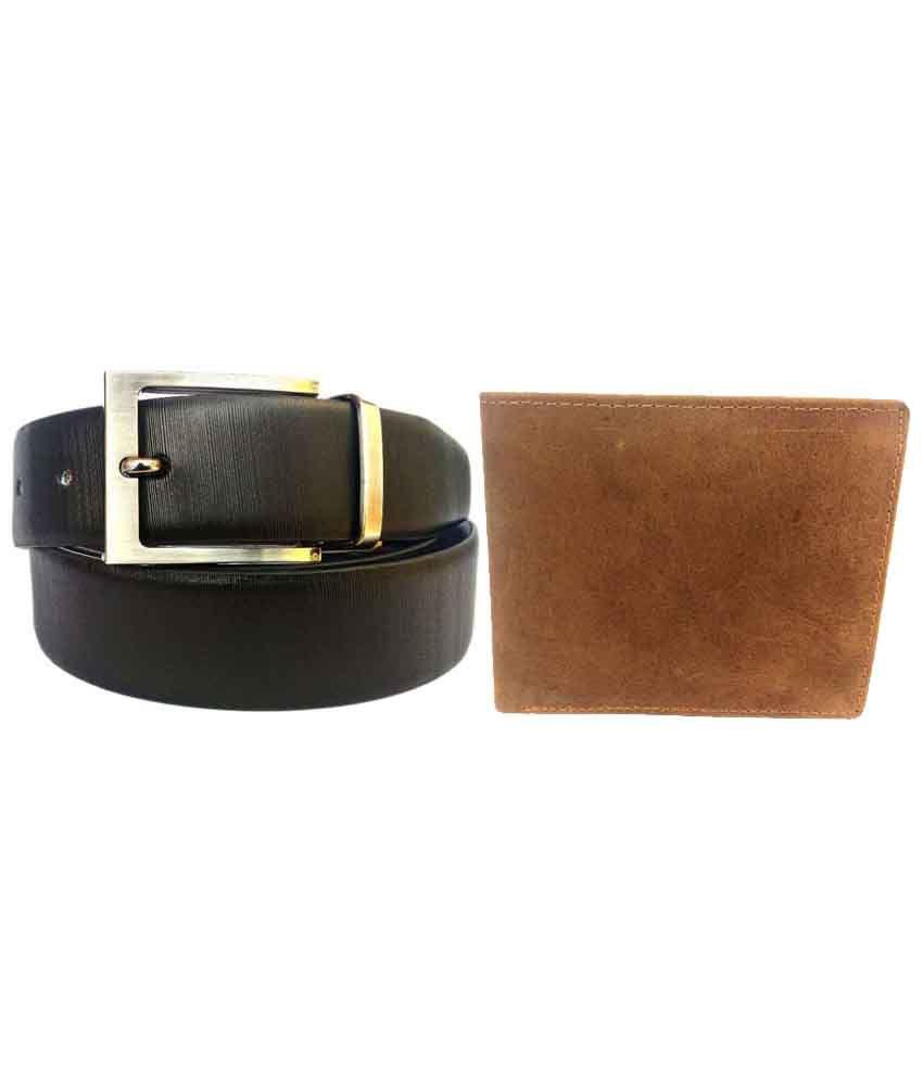 SGE Black Formal Belt for Men with Wallet