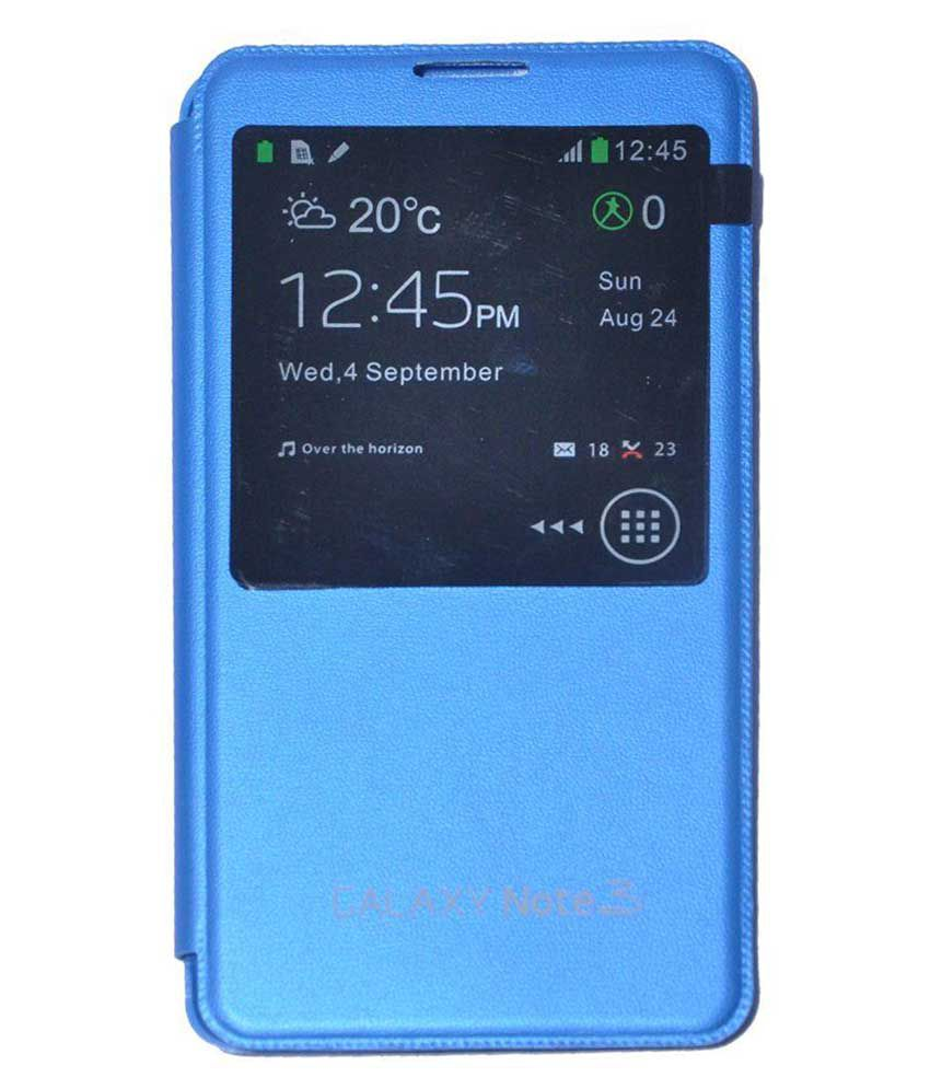 size 40 1137c e8a98 Samsung Galaxy Note 3 Blue Flip Cover by BLJ - Flip Covers Online at ...