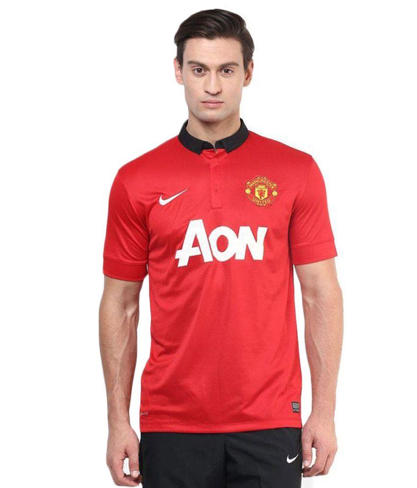 Nike Red Henley T Shirt