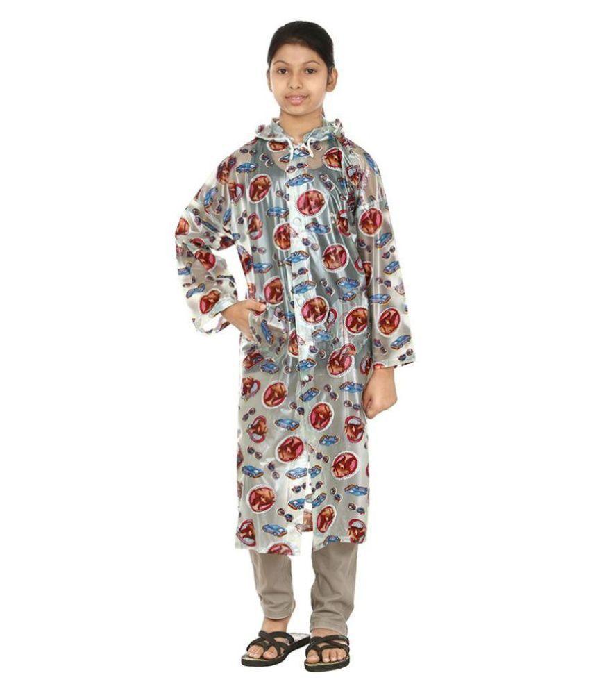 Rainfun Multicolour Waterproof Long Raincoat