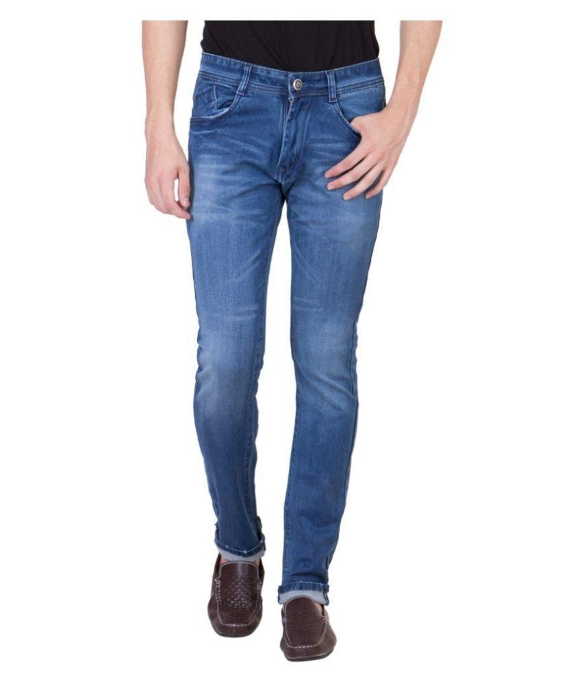 Spanish Jeans Blue Slim Fit Faded Jeans
