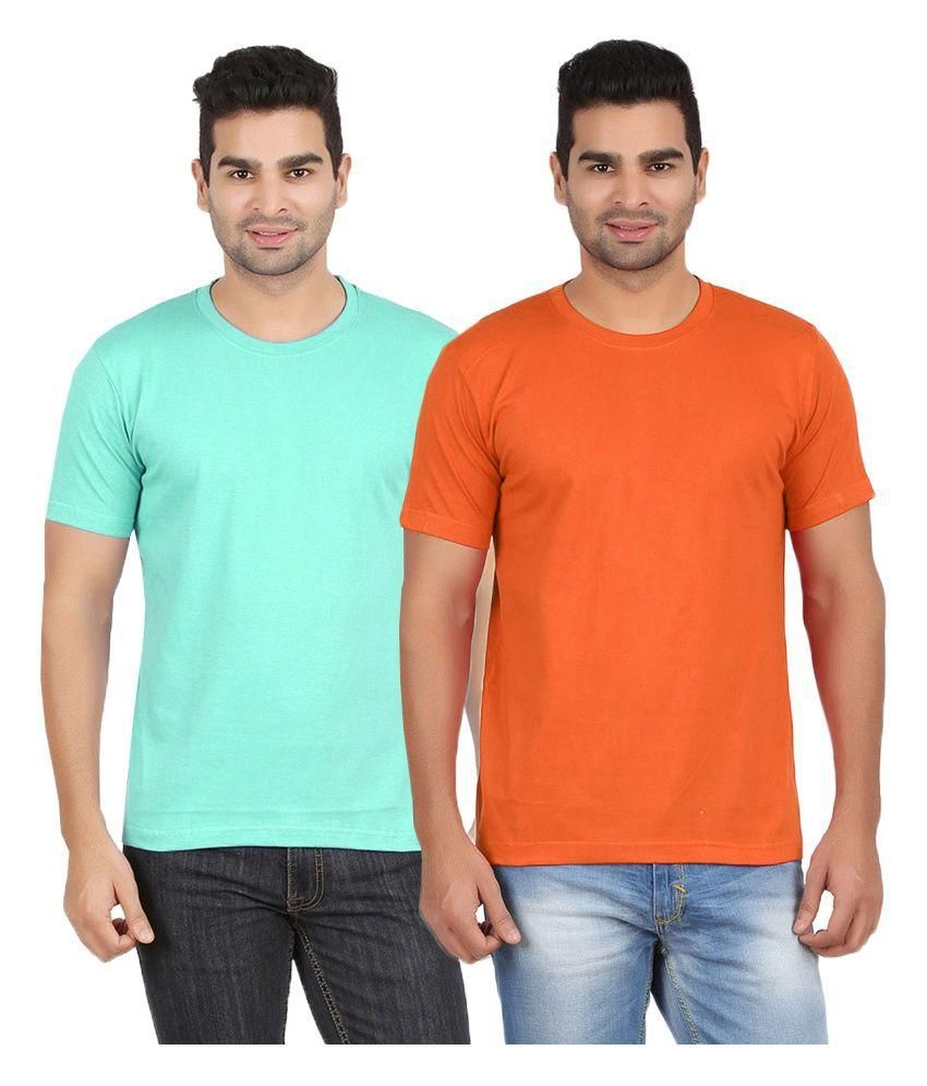 Gallop Multi Round T Shirt Pack of 2