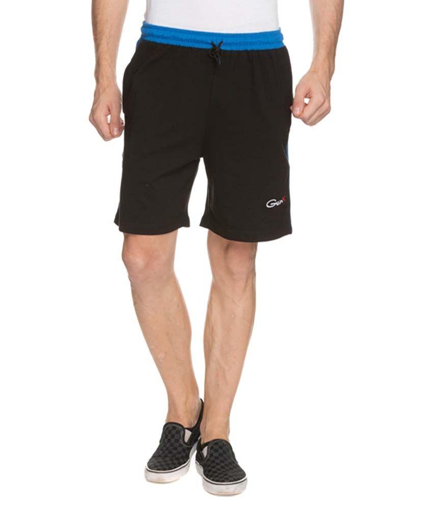 Genx Black Shorts
