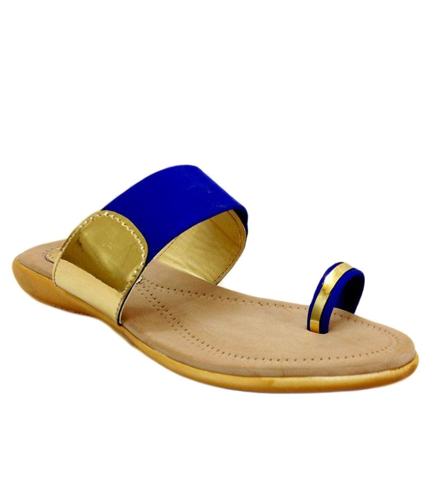 Russo Fashion Blue Slippers
