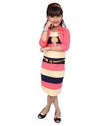 Arshia Fashions Multicolor Dress For Girls