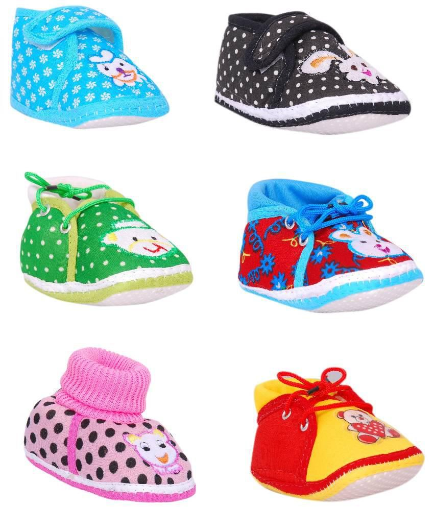 Brats N Angels Multicolour Baby Shoes Pack of 6 Price in