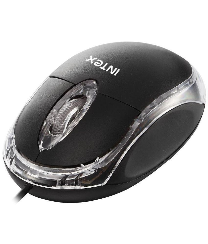 Intex Magic USB Wired Black Mouse