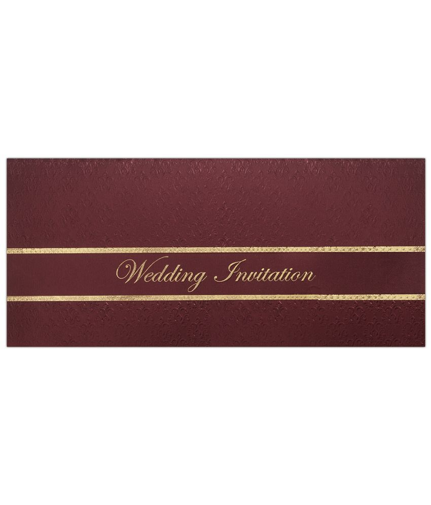 King Of Cards Maroon Paper Wedding Card: Buy Online at Best Price in ...