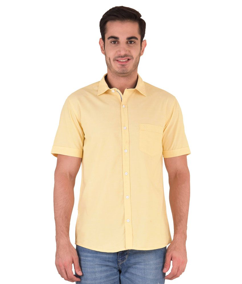 Kingswood Yellow Casuals Slim Fit Shirt