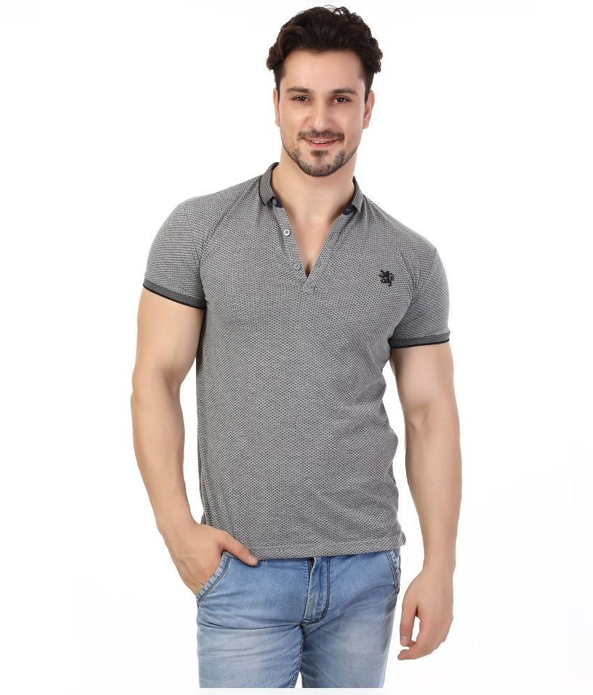 Rugby Grey Henley T Shirt