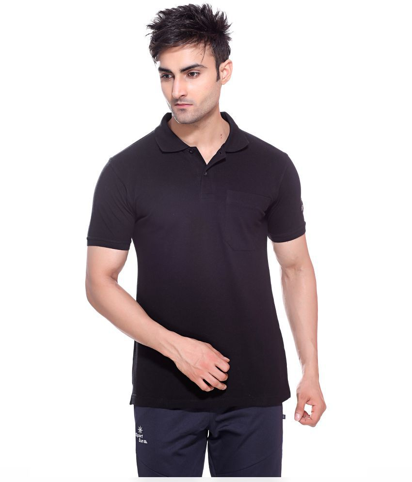 Sportsun Black T Shirts