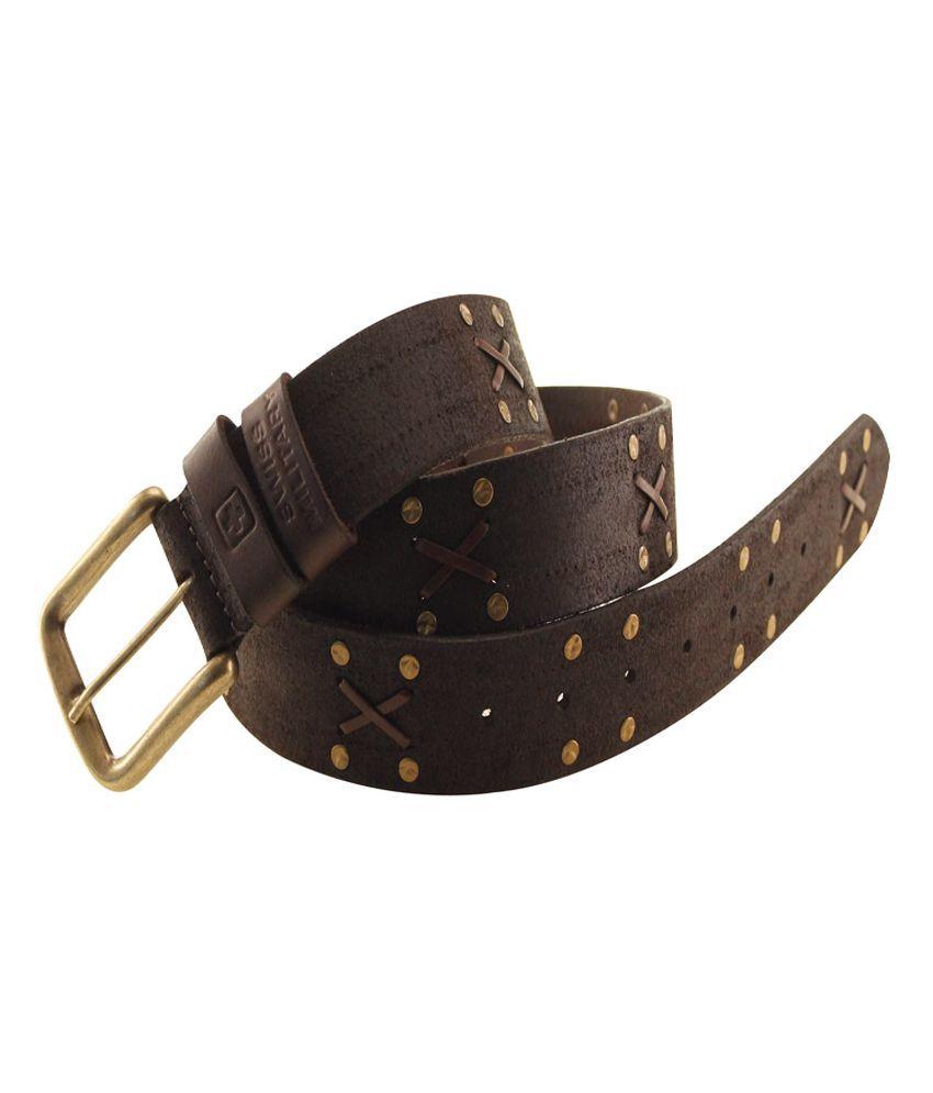 Swiss Militray Leather Belt