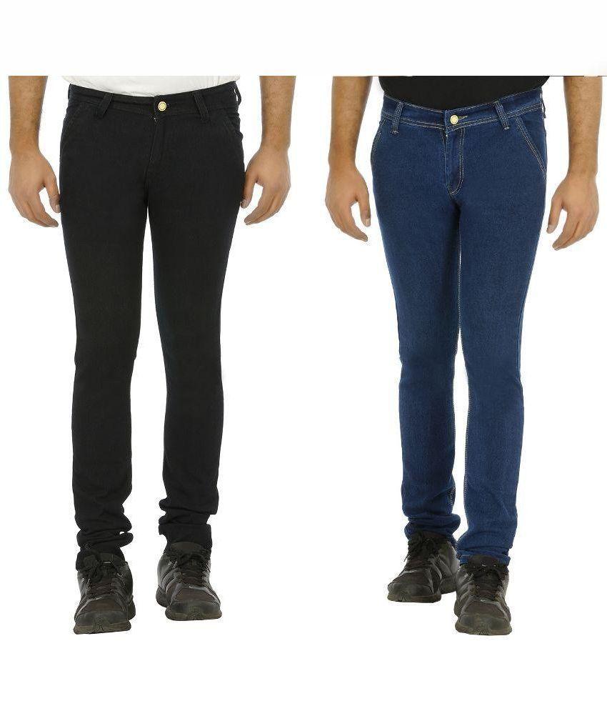Urbano Fashion Multi Slim Fit Stretch Jeans Pack of 2