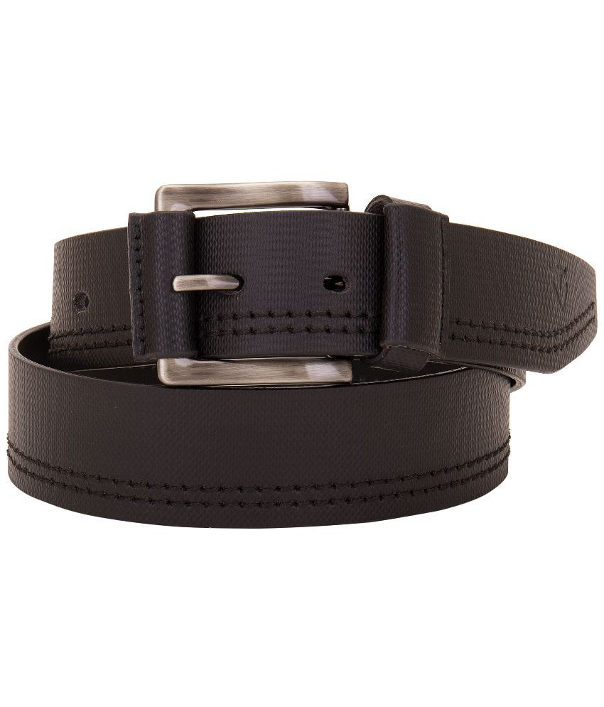 VALBONE Black Leather Belt For Men