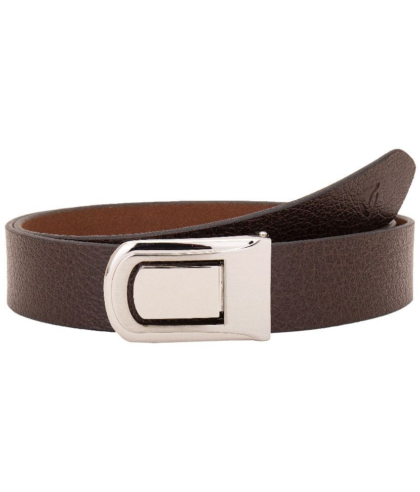 VALBONE Brown Leather Casual Belt For Men