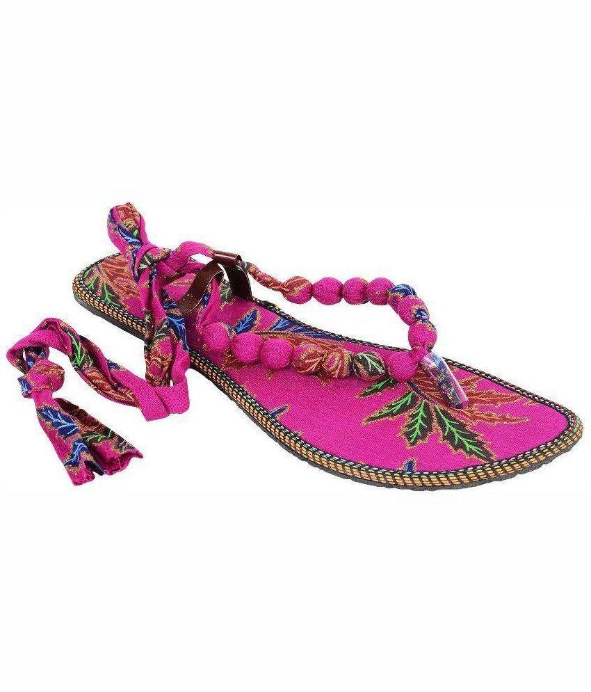 Aakar Pink Flats