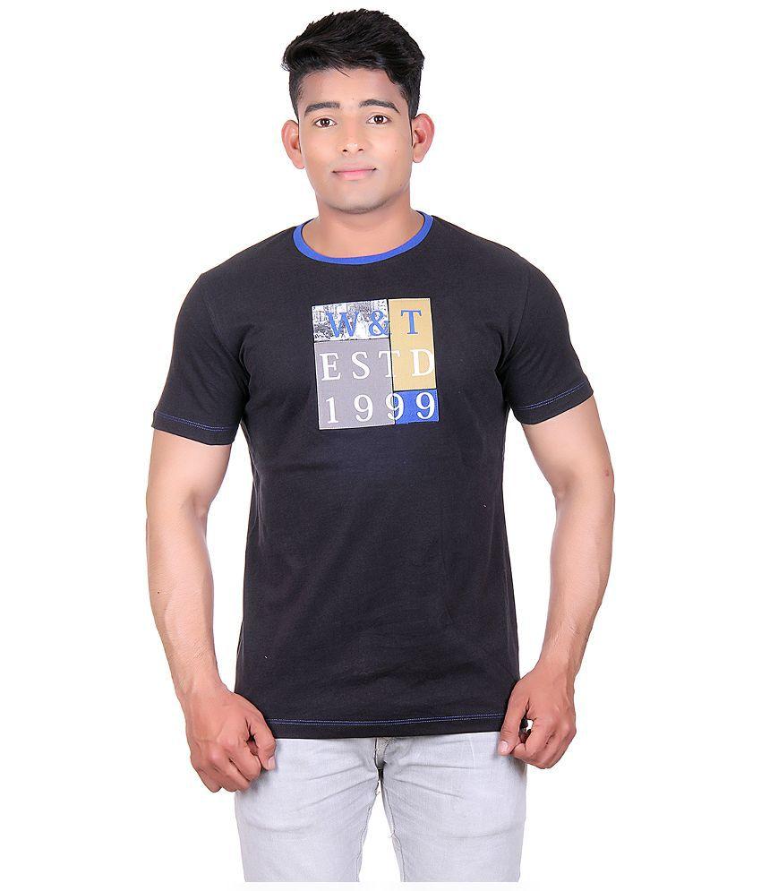 Wilkins & Tuscany Black Round T Shirt