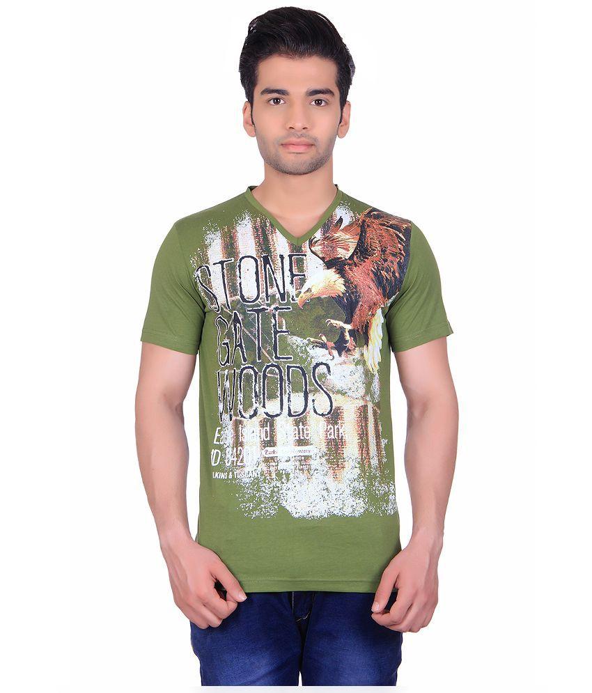 Wilkins & Tuscany Green V-Neck T Shirt