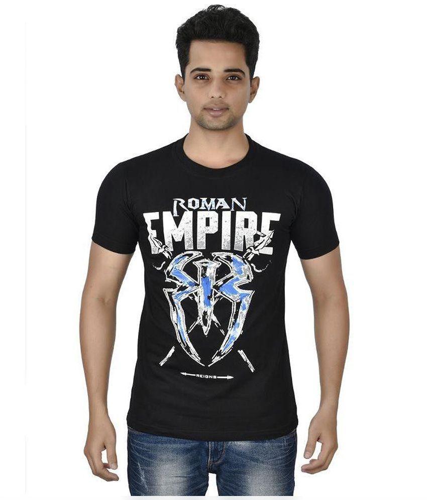 Attitude Black Round T Shirt