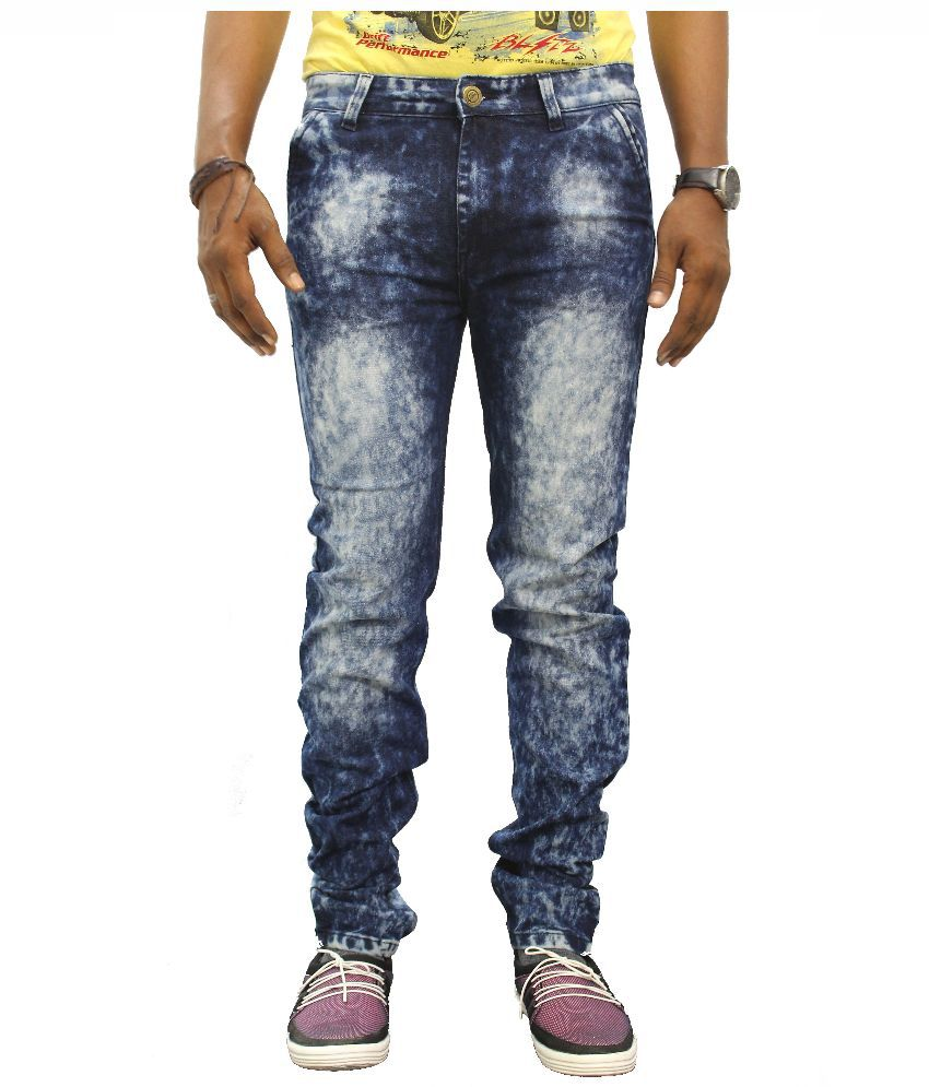 Jugend Blue Skinny Fit Faded Jeans