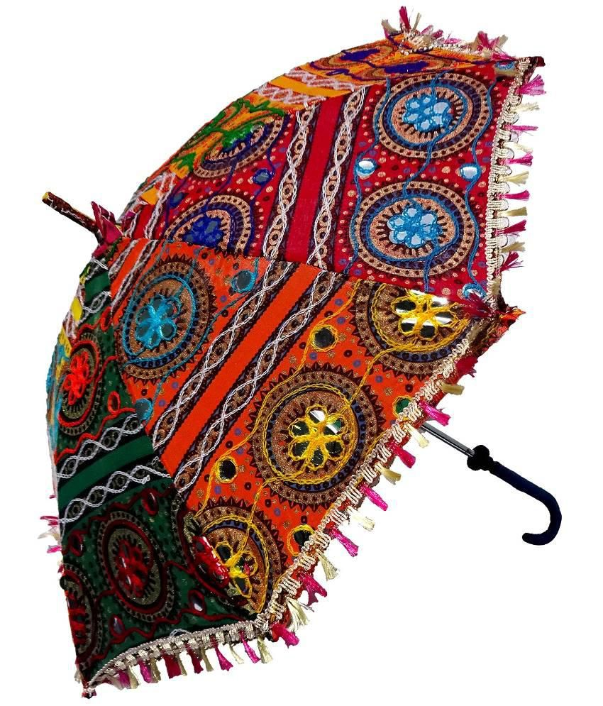 Low Price In India >> RTD Colorful Design Rajasthani Handicraft Umbrella: Buy Online at Low Price in India - Snapdeal