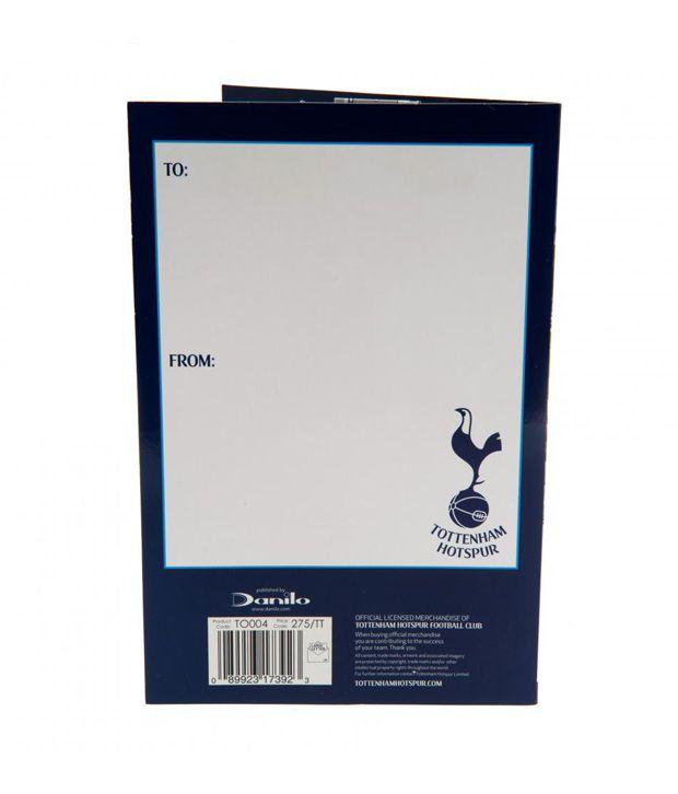 Tottenham Hotspur FC Pop Up Birthday Card