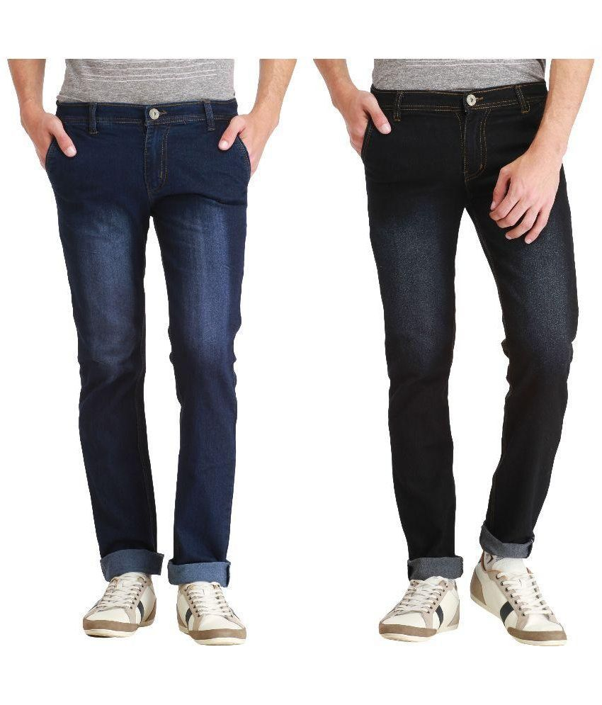 London Looks Multi Slim Fit Washed Jeans Pack of 2