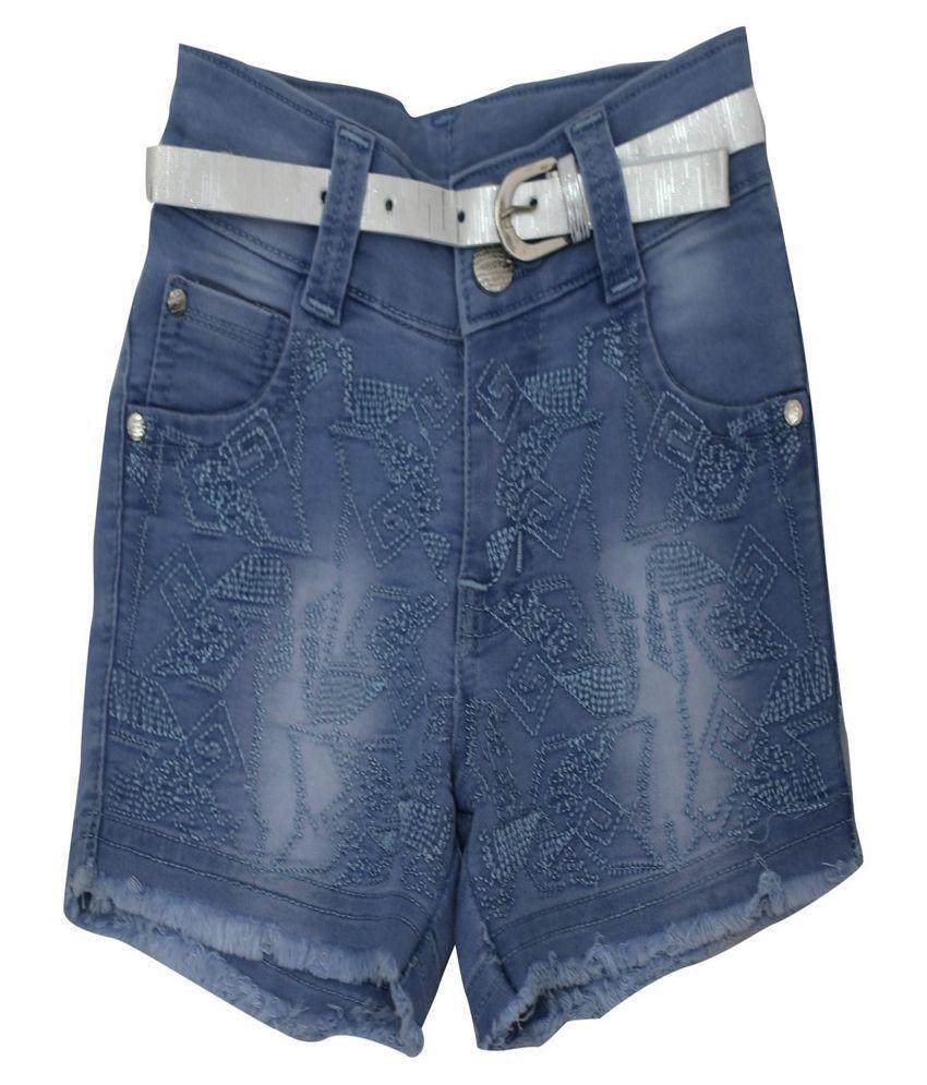 Titrit Blue Denim Short for Girls
