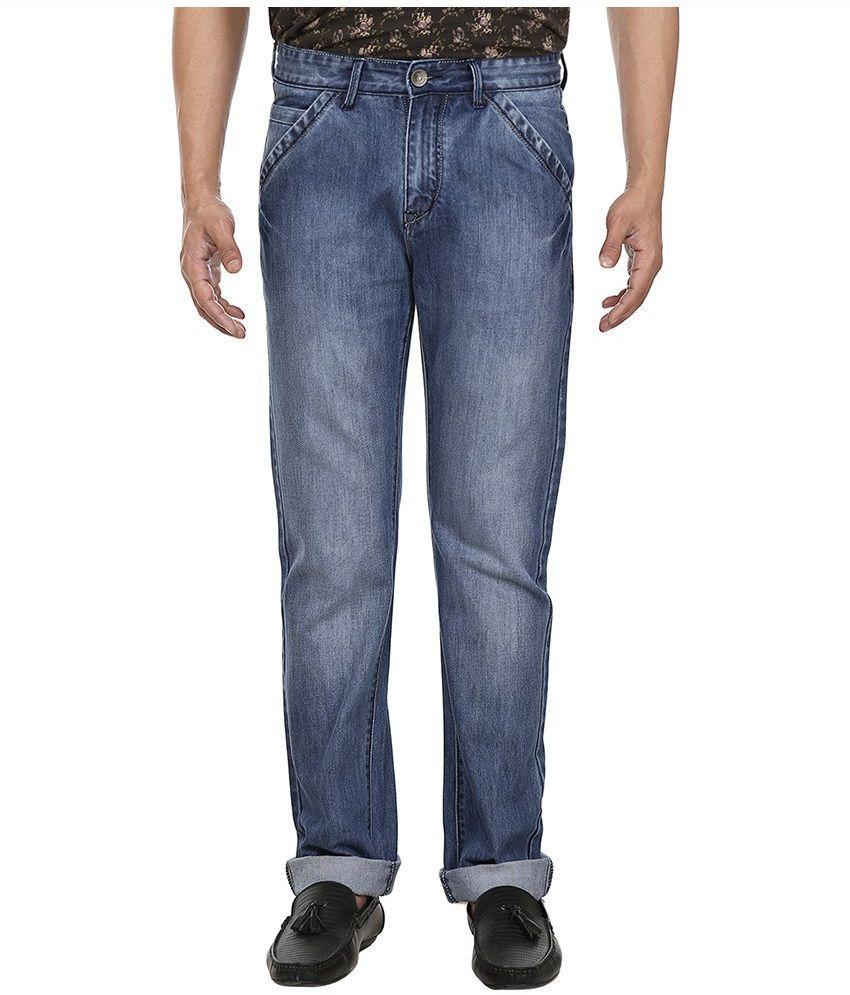 Fever Blue Regular Fit Solid Jeans