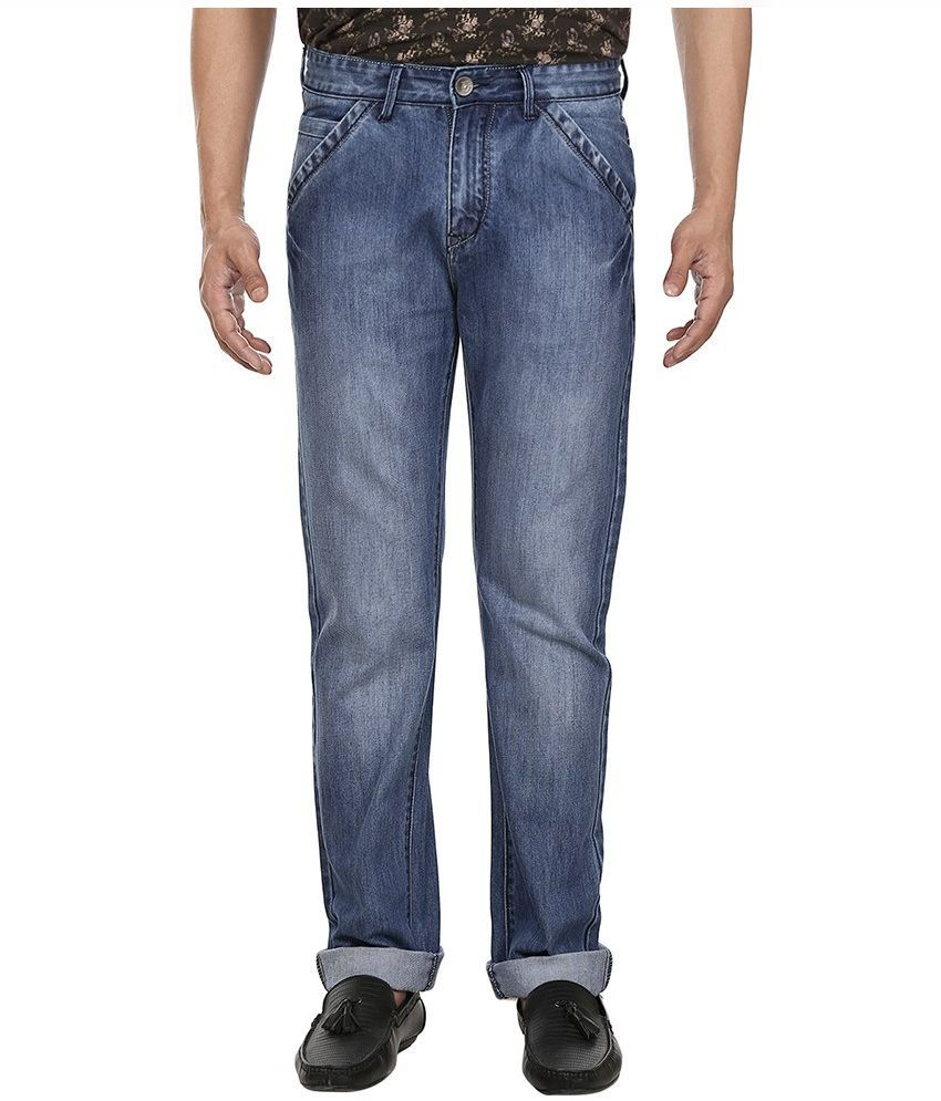 Fever Blue Regular Fit Solid Jeans