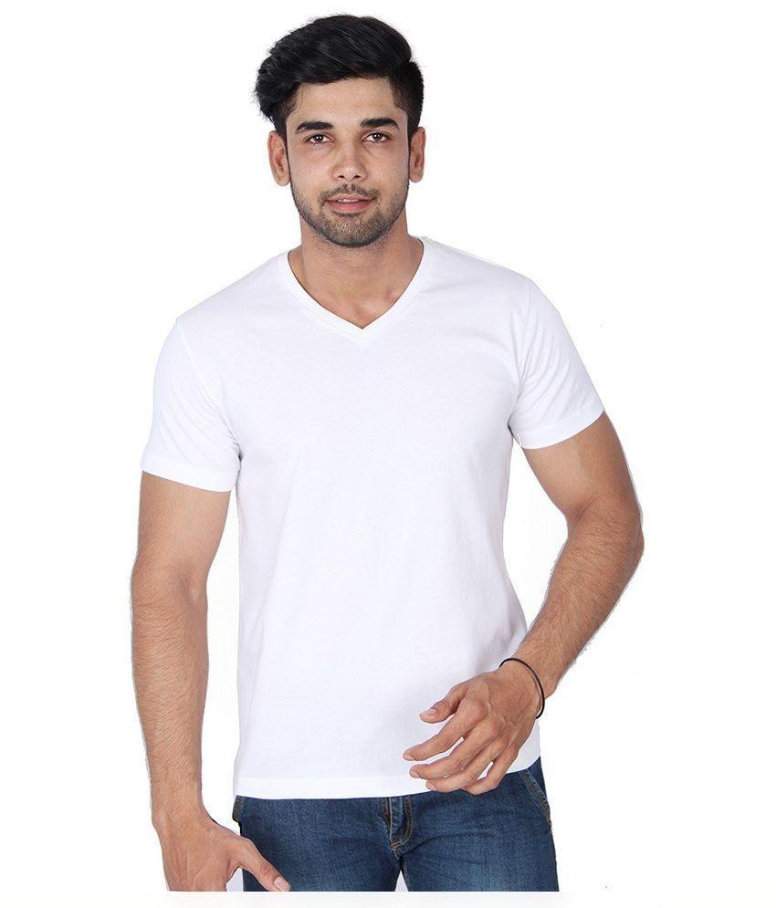 Friskers White V-Neck T Shirt