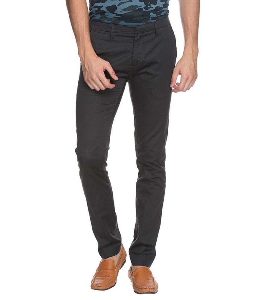 Mufti Grey Super Skinny Fit Trousers