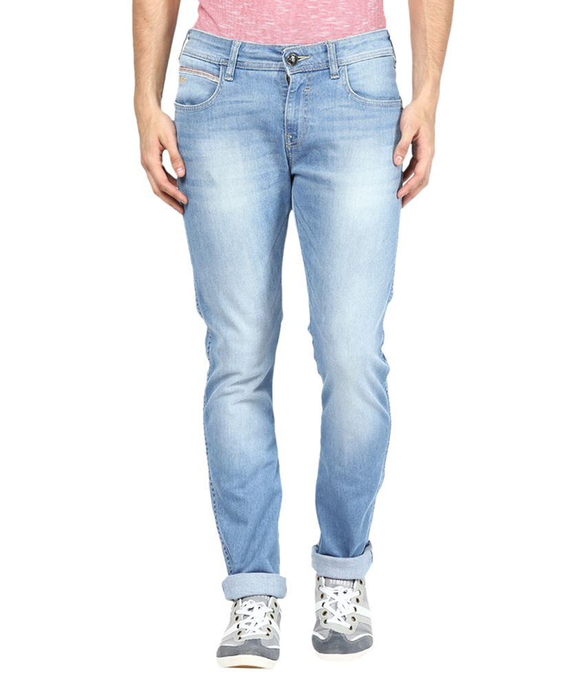 Wrangler Blue Skinny Fit Faded Jeans