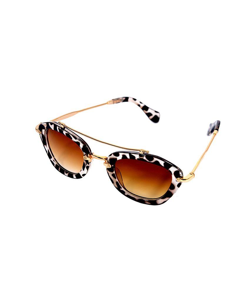 Eye Candy Brown Cat Eye Sunglasses ( ME8413 )