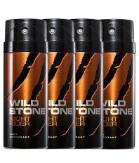 Wild Stone Night Rider Body Deodorants 150 Ml (Pack Of 4)