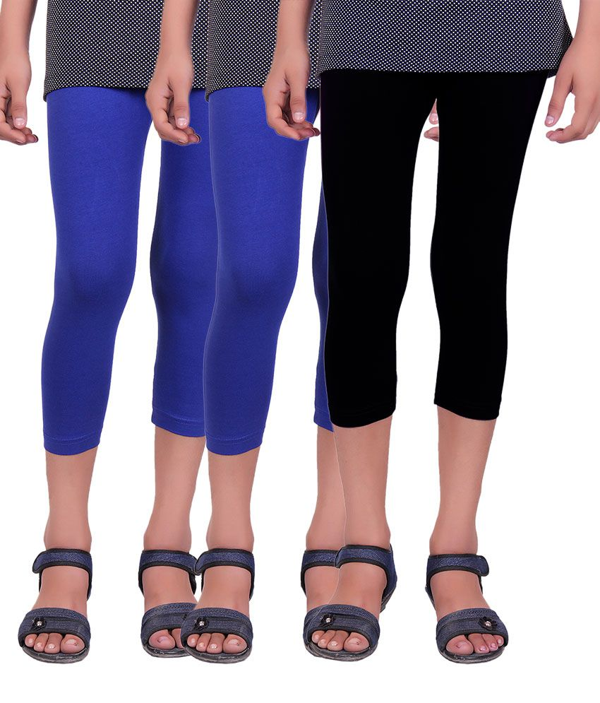 Alisha Multicolor Capris For Girls - Pack Of 3