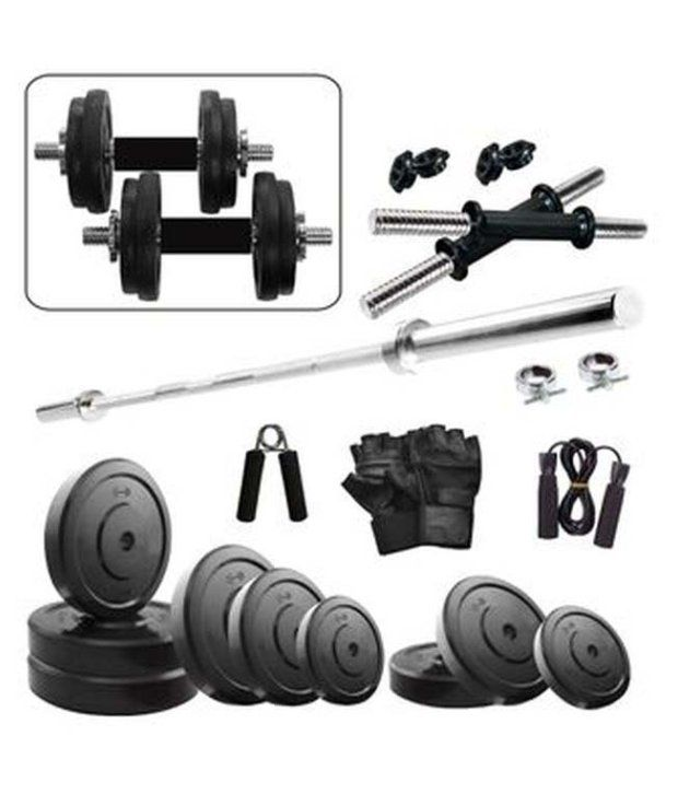 Gym Equipment Vadodara: Fitzon 25 Kg Combo 9-WB Home Gym: Buy Online At Best Price