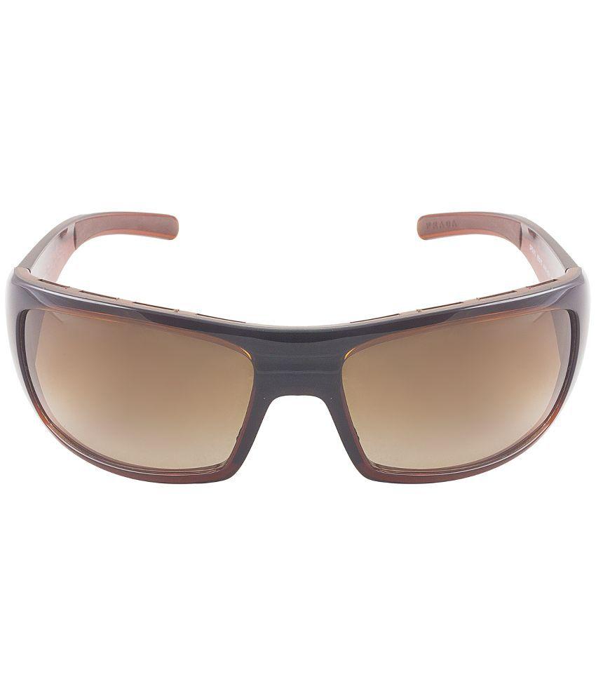 a35afccd6a Prada Brown Wrap Around Sunglasses ( SPS01L ) For Men - Buy Prada ...