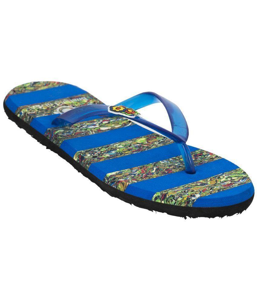 Advin England Blue Slippers